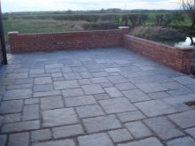 Paving and Wall